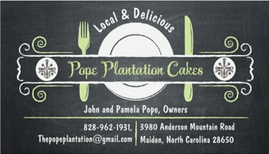 Cake in Maiden - Pope Plantation Cakes