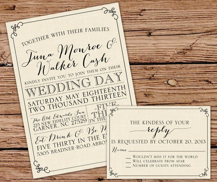 Best Wedding Custom Invites