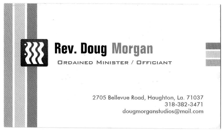 Officiants in Haughton - Rev. Doug Morgan