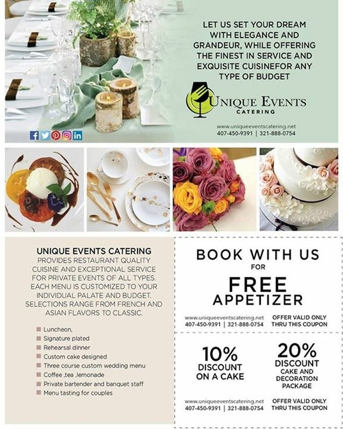 Caterers in Orlando - Unique events catering