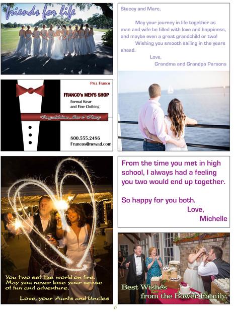 Custom Invites / Favors in Summerville - Tribute Ads