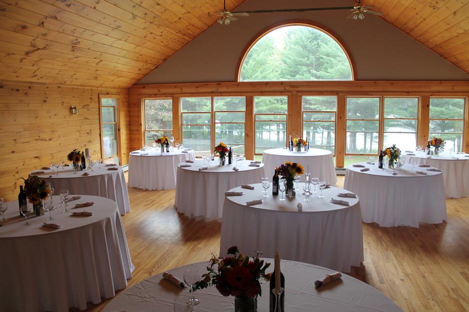 Maine Lakeside Cabins Resort Event Center Best Wedding Reception