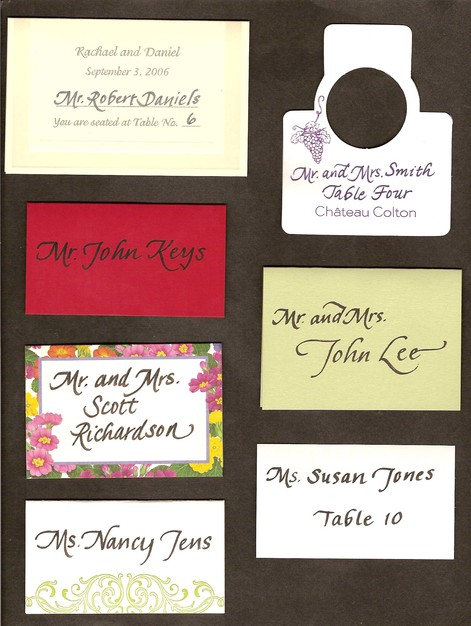 Custom Invites / Favors in Baltimore - Calligraphy by Nancy