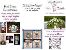 Pink zebra executive consultant kim jeter custom invites favors