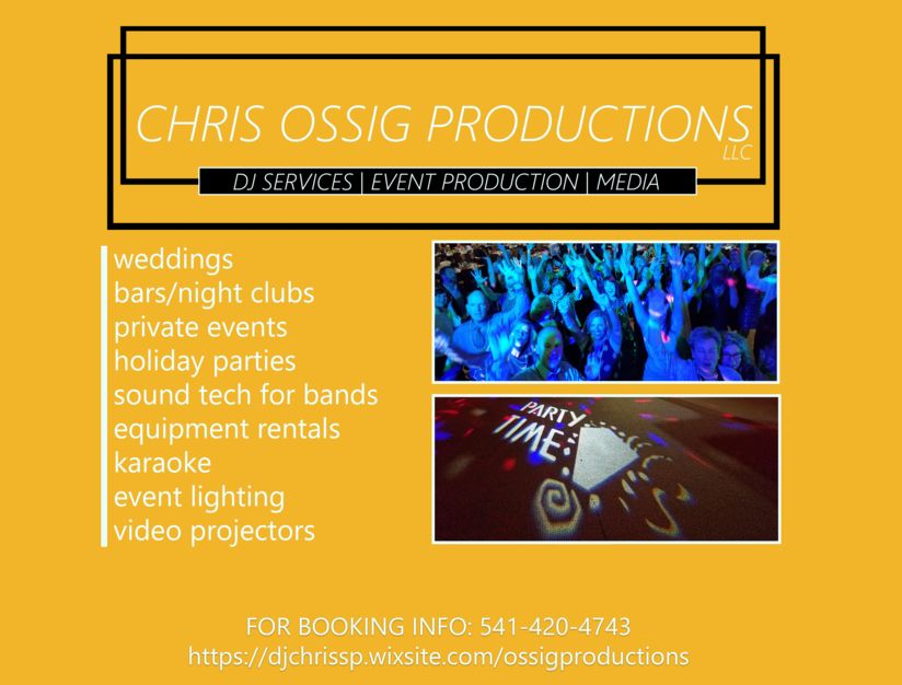 DJ in Bend - Chris Ossig Productions