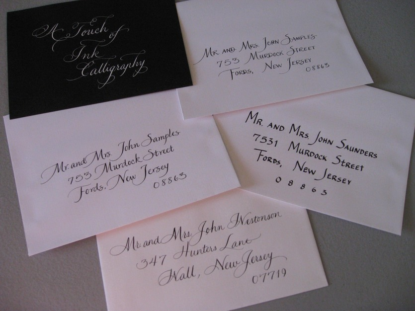 A Touch Of Ink Calligraphy Best Wedding Custom Invites