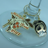 Custom Invites / Favors in Oklahoma City - Metro Pins... for Bridal Wine Charms