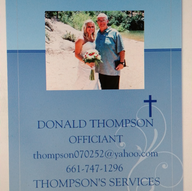 Officiants in Topaz - Thompson's Services