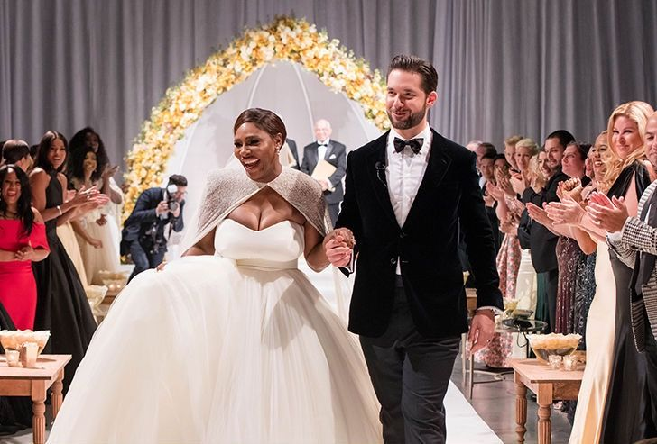 ... stars celebrated their unconventional confetti-themed wedding on March  25th, in Palm Springs. The brides certainly made an entrance walking up the  aisle ...