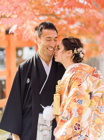 A Traditional Japanese Wedding In The Fall