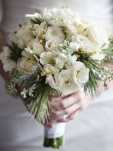 Winter white bouquets clarissa flowers community wedding intricate pairings of different white flowers give each bouquet a unique texture and look mightylinksfo