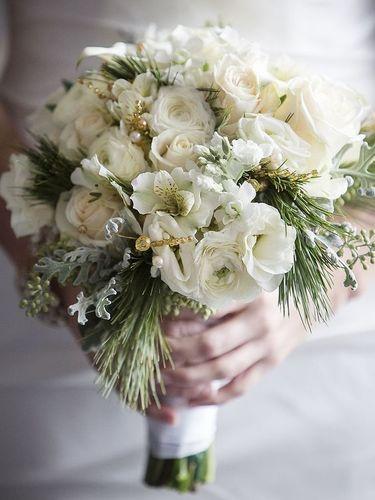 Winter White Bouquets Clarissa Flowers Community Wedding